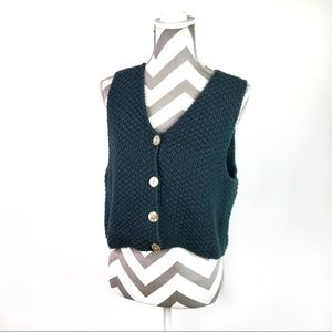 Lilly Pulitzer | vintage green knit vest | Small